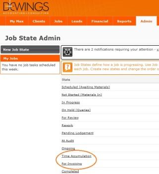 New job states